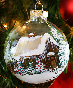 Peg Fennimore Hand Painted Christmas Ornaments